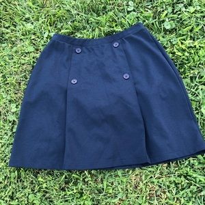 442fca0813ba4 Lands end knit navy blue uniform sport skirt sz 8